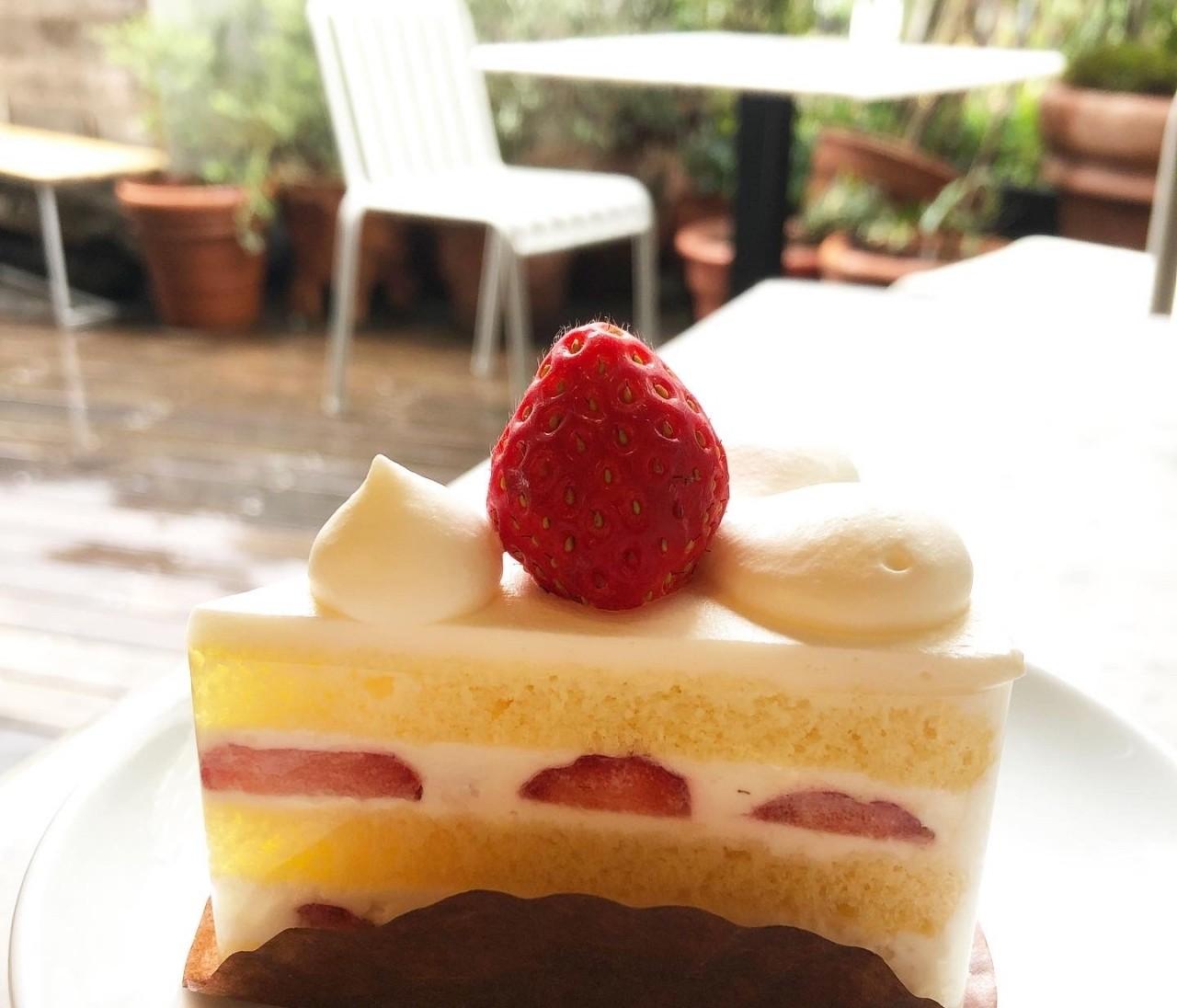 口の中でとろけるふわふわショートケーキを渋谷のカフェで…♡