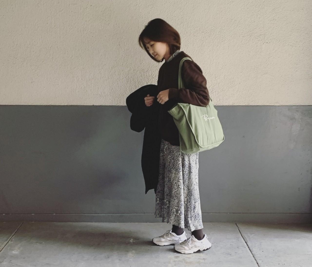 休日コーデ【フェミニンワンピをGUメンズスウェットで引算】