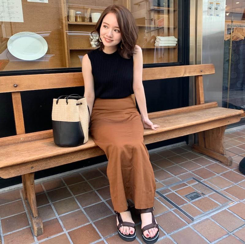石本愛衣_150cmコーデ_秋めきスカート