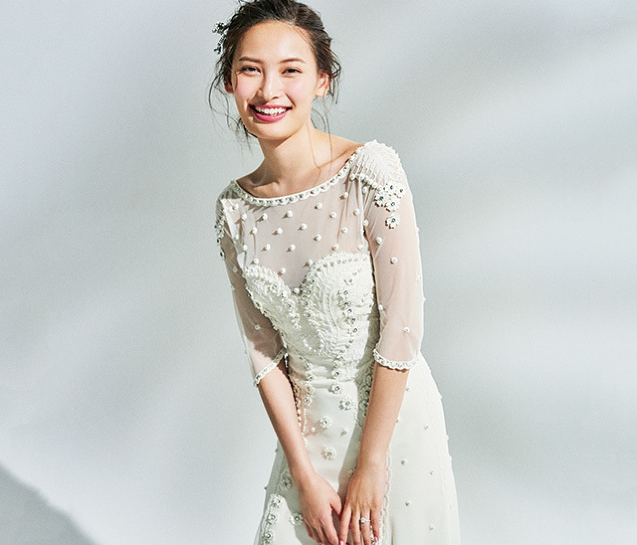 トレンドドレス派さんのチアフルなモチーフリング【好みのドレスから考えるウエディングリング 1】