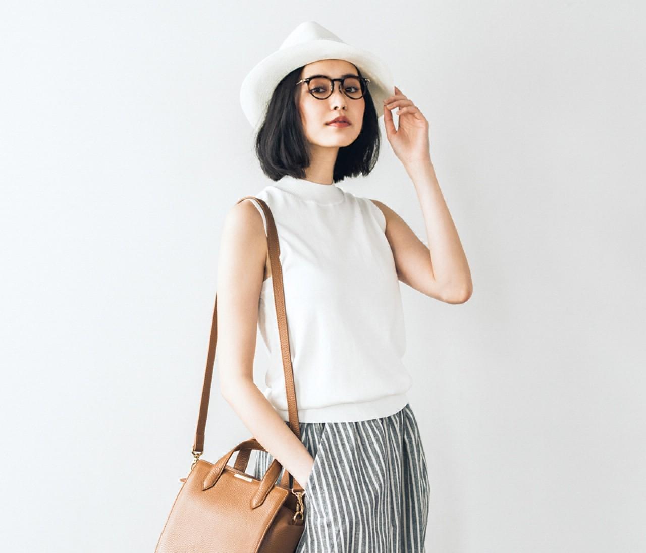 白で【−2㎏】着やせ見えするコーデ術5