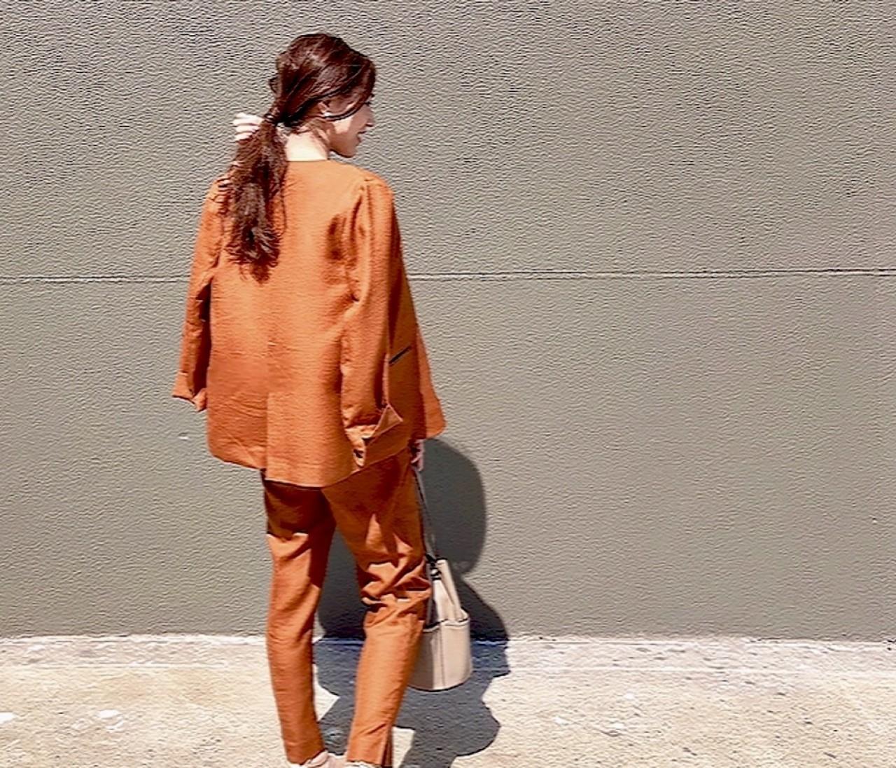 【休日コーデ】ジャケットセットアップをほんのり女っぽく