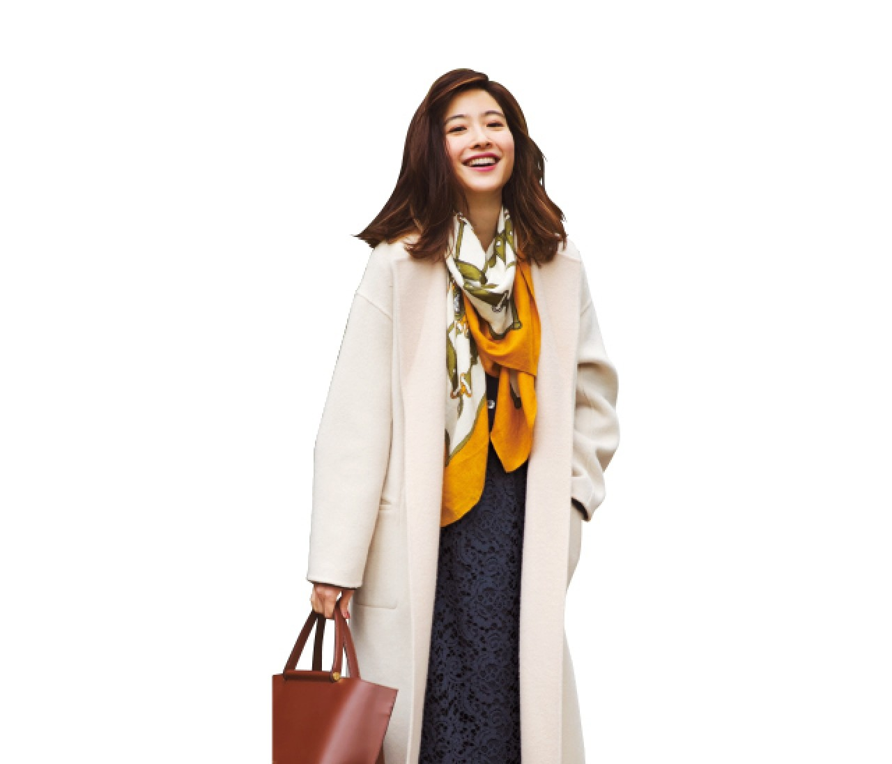 親戚との新年会は、ネイビーベースの女っぽいスカートスタイル♡【2019/1/13のコーデ】
