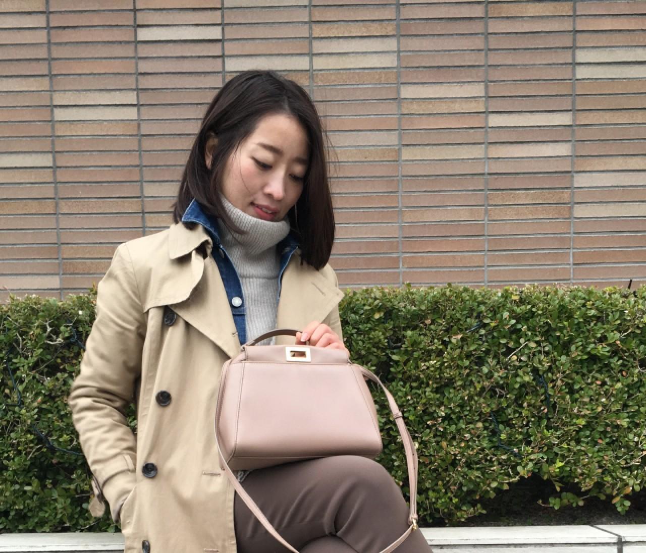 【#ときめきトレンチ #OOTD】鈴木園子さん(2016年3月22日)