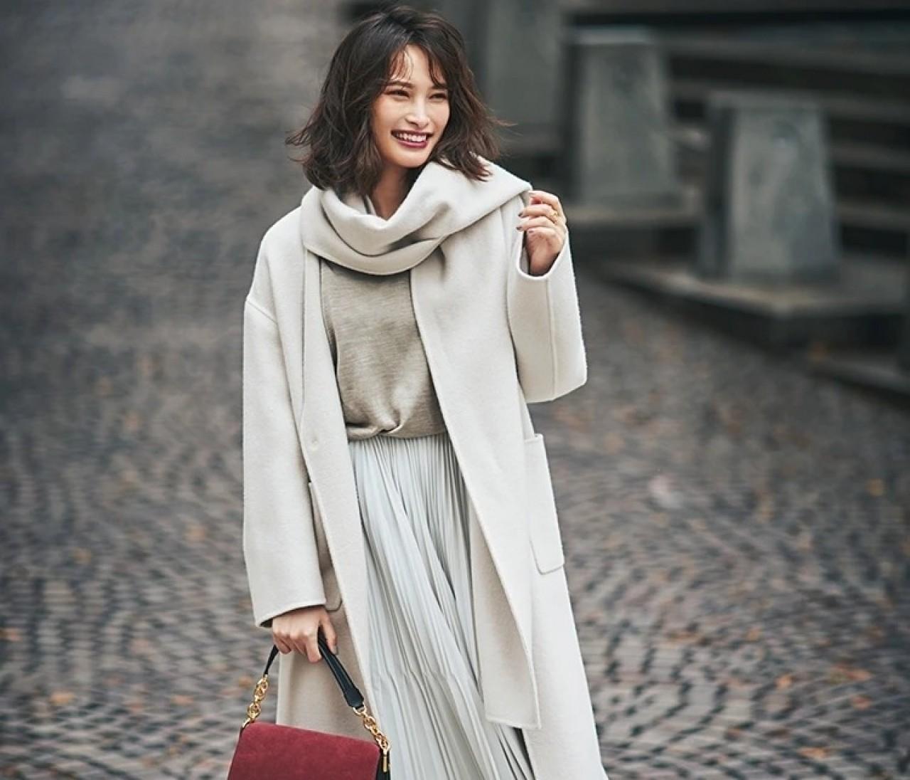 重たくなりがちな冬の着こなしに効く!着やせスカート15選