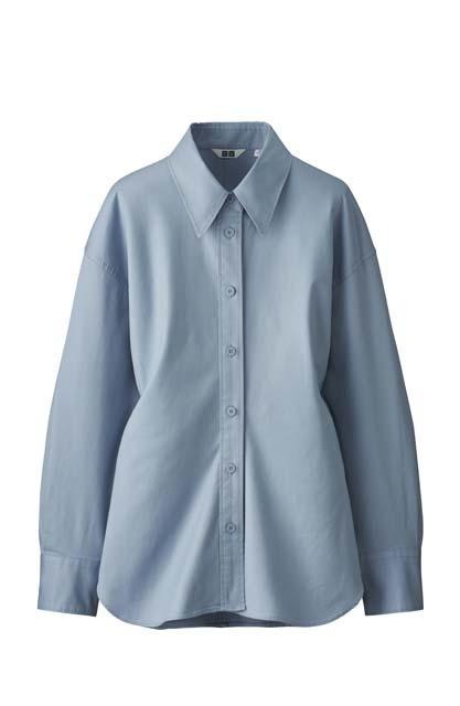 ストレッチシャツ(無地、長袖)