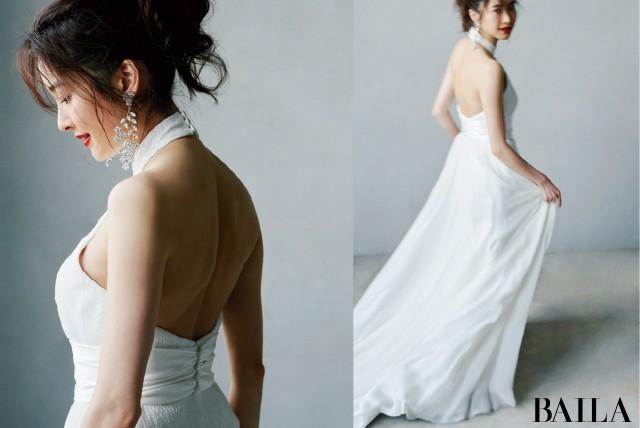 後ろ姿の美しいドレス4