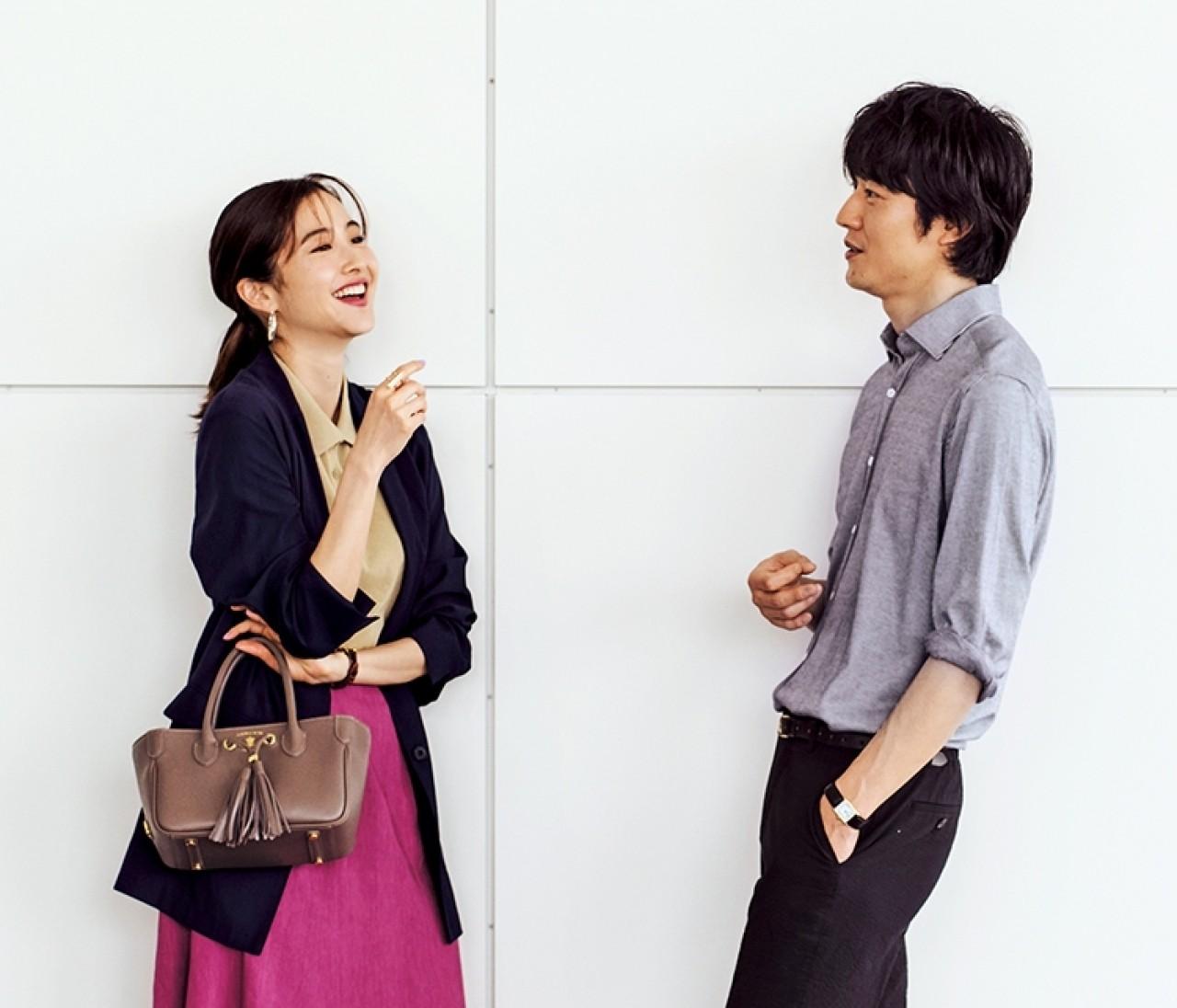会議の日は、紺ジャケット×旬色ポロニットのきれいめスタイルで【2019/7/17のコーデ】