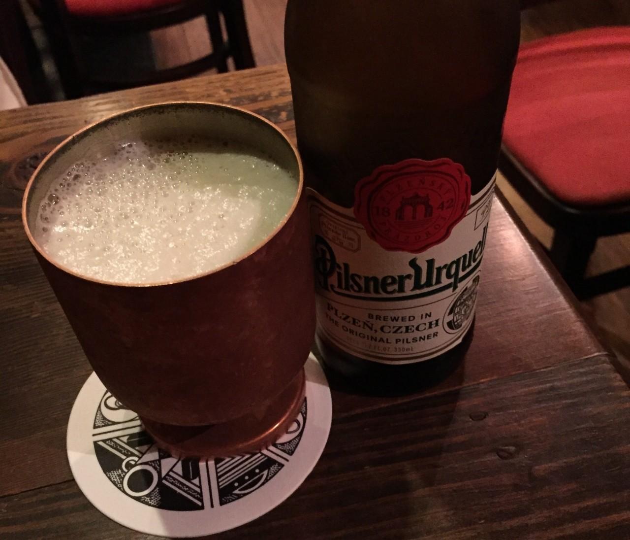 【ある日、神保町で】チェコのビール、ピルスナー・ウルケルをゴクゴク、プハー