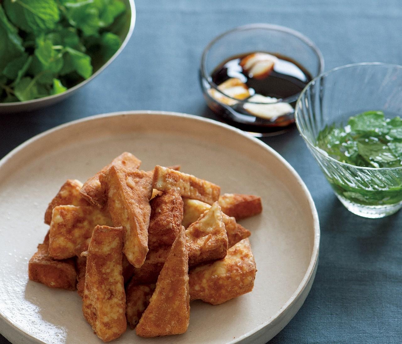 揚げ豆腐とミント!? 泣けるほどおいしい【浮き豆腐】のレシピ