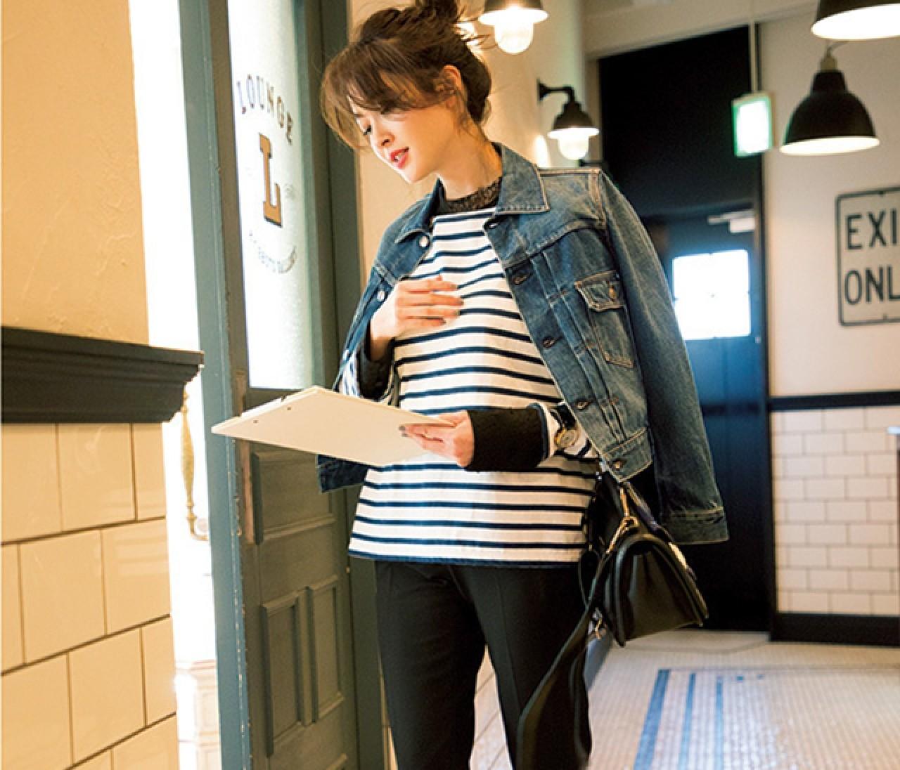 美脚効果絶大♡ 細め黒パンツを今っぽく着こなす方法5