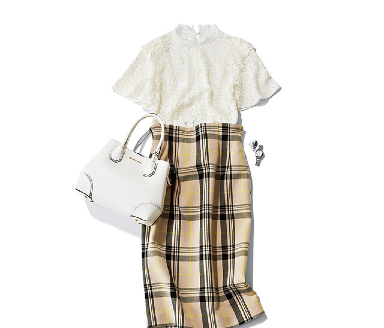 大事なプレゼンの日は、好印象コンビの洗練スカートスタイル♡【2018/8/6のコーデ】
