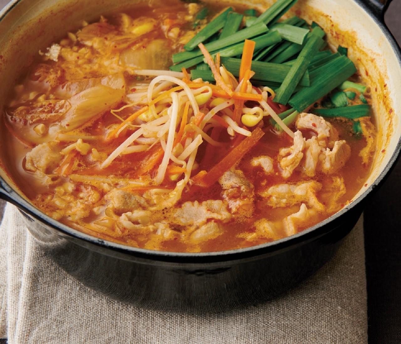 【温野菜レシピ】体が心からポカポカに「豆もやしと納豆のチゲ」