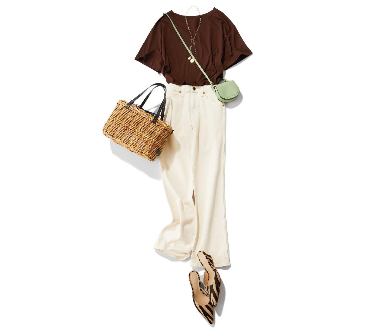 「ベイクドカラーTシャツ」で一足お先に秋のムードを楽しんで!