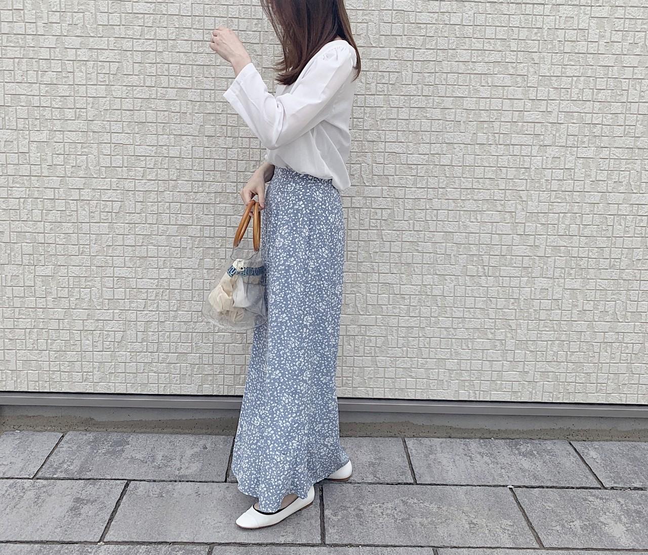 一点派手服!大好きな花柄ロングスカート