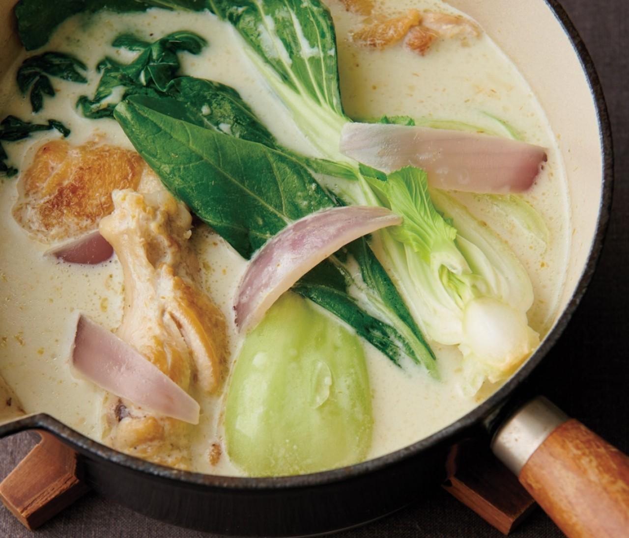 【温野菜レシピ】シャキシャキ野菜が美味しい「チンゲン菜のグリーンカレー鍋 」