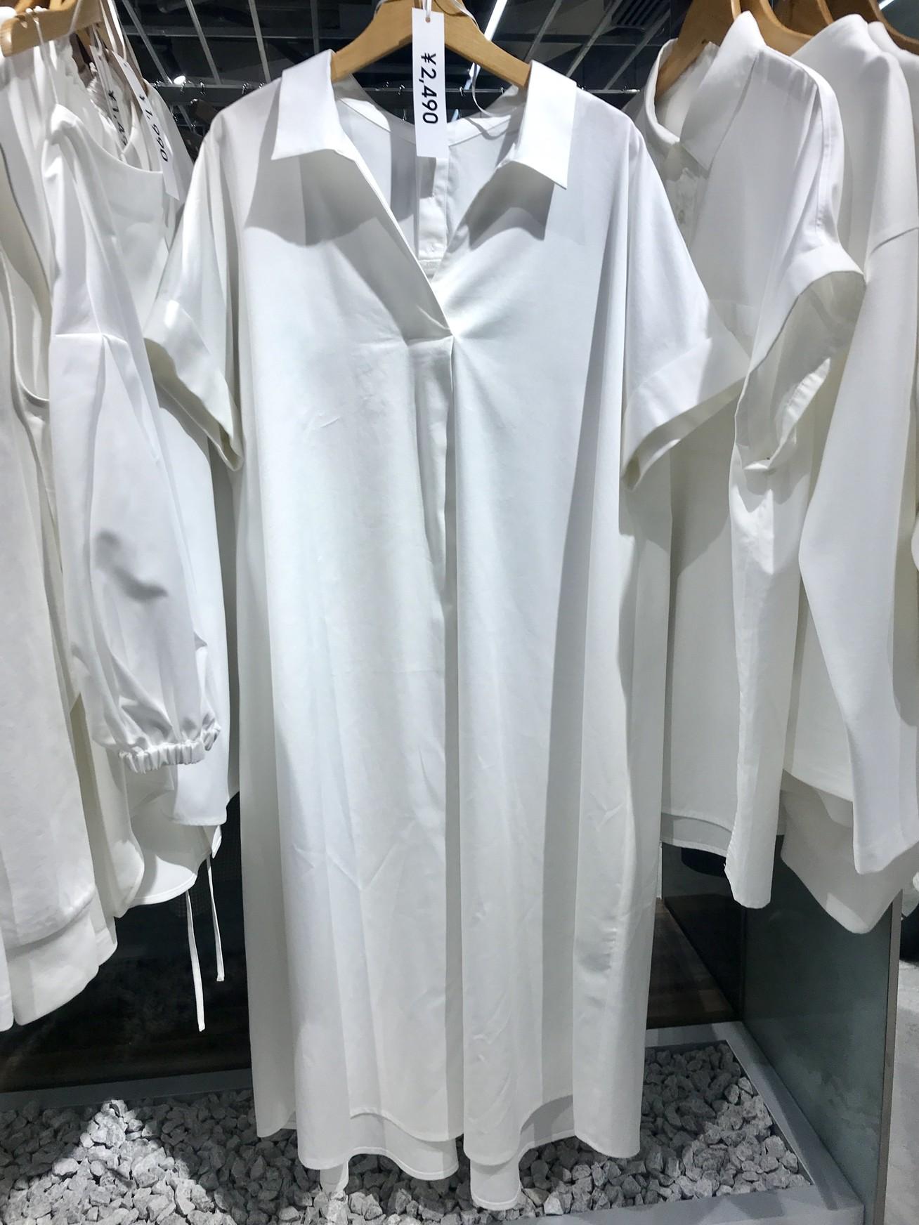 Aラインシャツワンピース¥2490/ジーユー(GU)