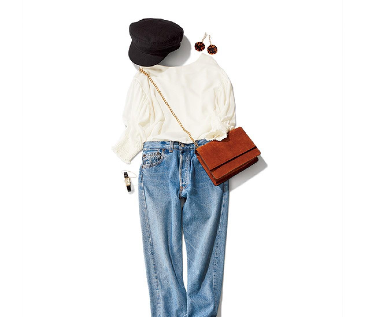 女っぽさ上々! 休日パリジェンヌ風デニムスタイルの作り方♡【2018/5/4のコーデ】