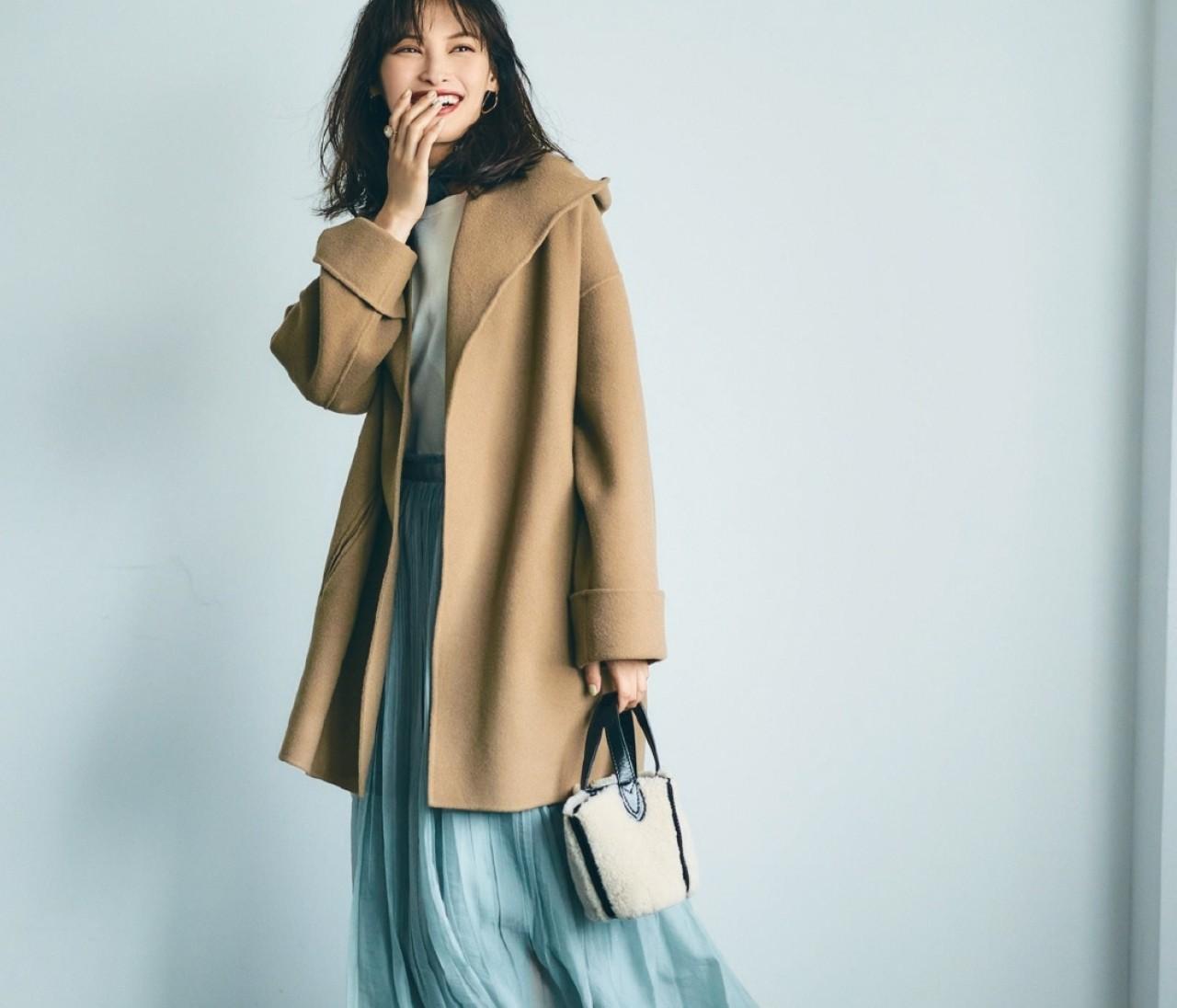 金曜日は、甘めスタイルをラテカラーのコートで大人っぽく【30代今日のコーデ】