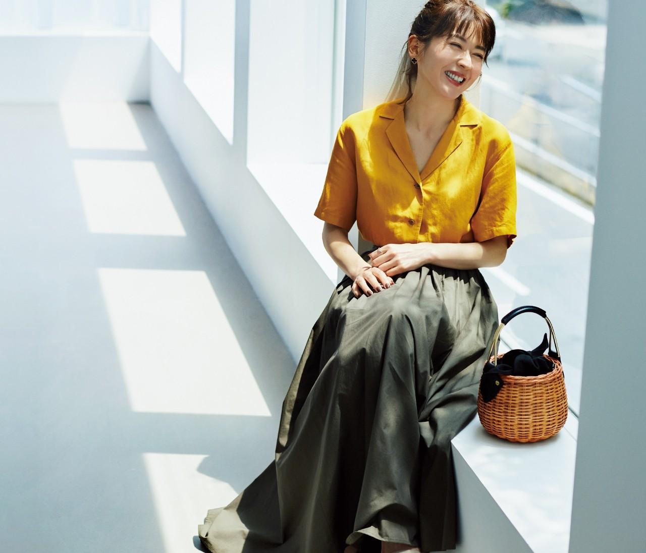 【伊藤真知さんが選ぶ夏ユニクロ】「開襟シャツ」は可愛さと大人っぽさが両立!
