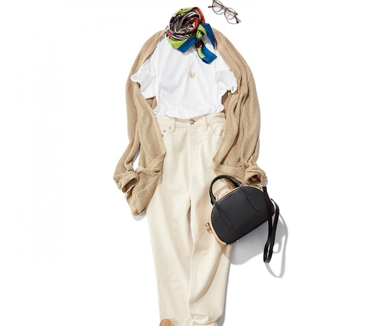 【今日のコーデ】金曜日は、白T×ホワイトデニムのクリーンスタイル
