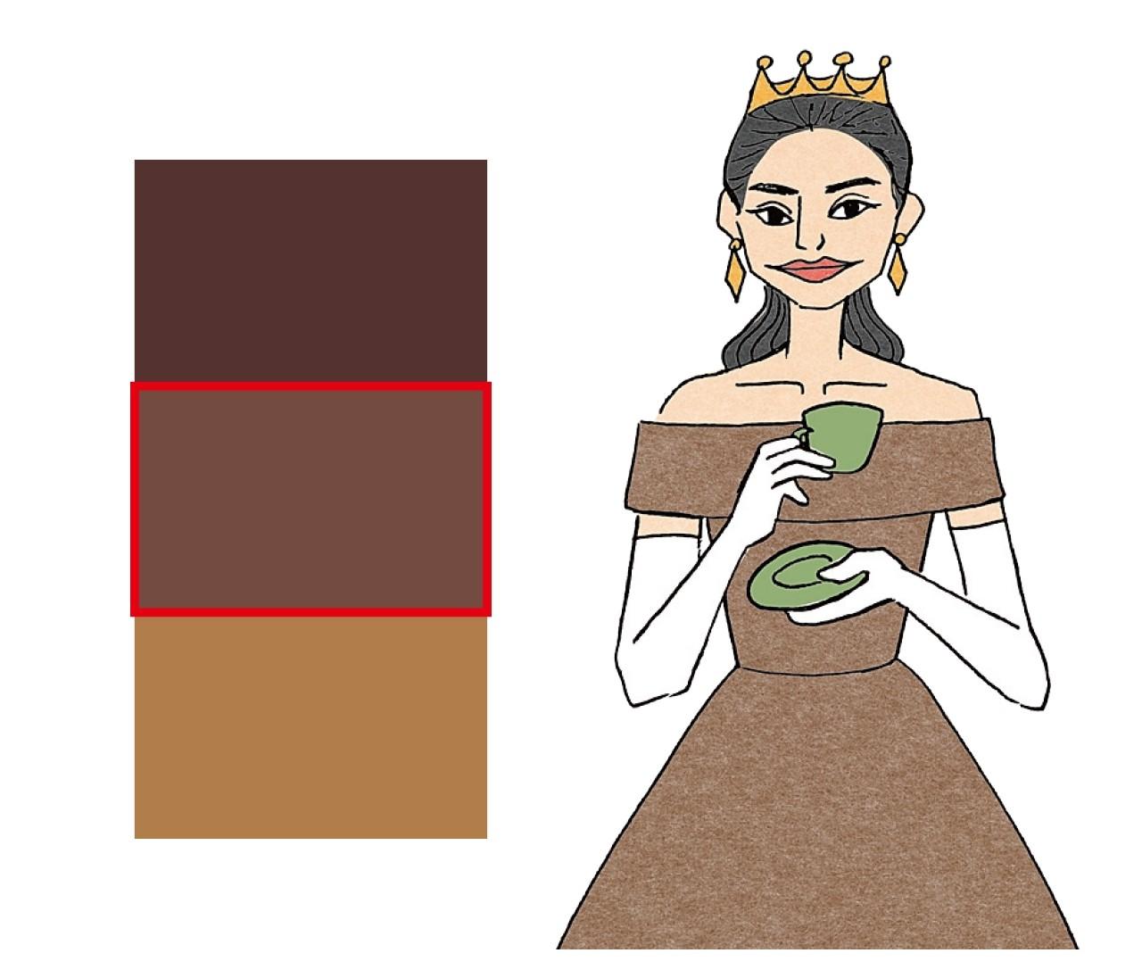 【イエベ×男顔】コーヒーブラウン姫は濃いブラウンをきりっと着る!