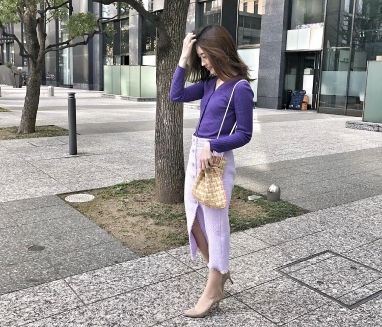 ZARAの新作!春満開スカートとCharmant Sacの春色バッグ♡