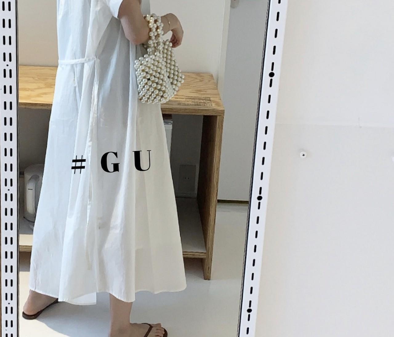 売り切れ必至!GU大人気シャツワンピ