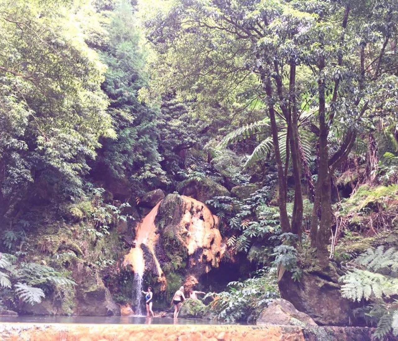 ジャングルの中の温泉♪