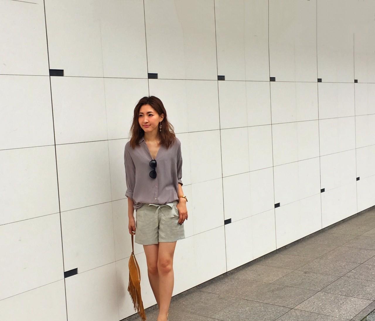 ★新しいバッグを持って新しいバッグを買いに #涼しい日 #ショートパンツ