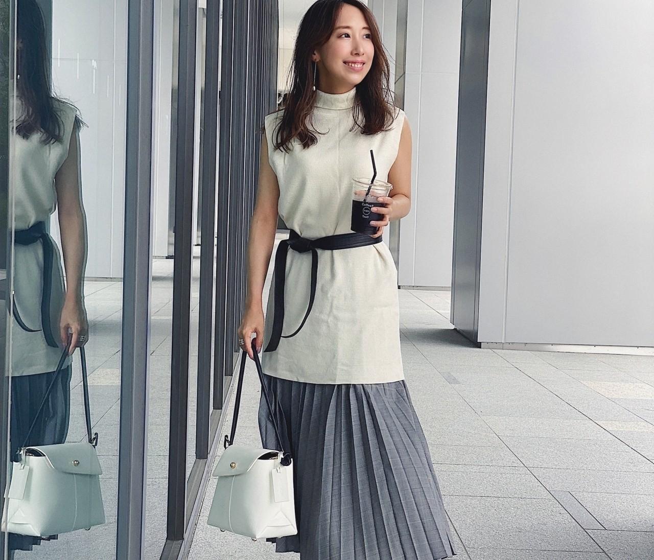 【ユニクロ新作】チェック柄アコーディオンプリーツスカート