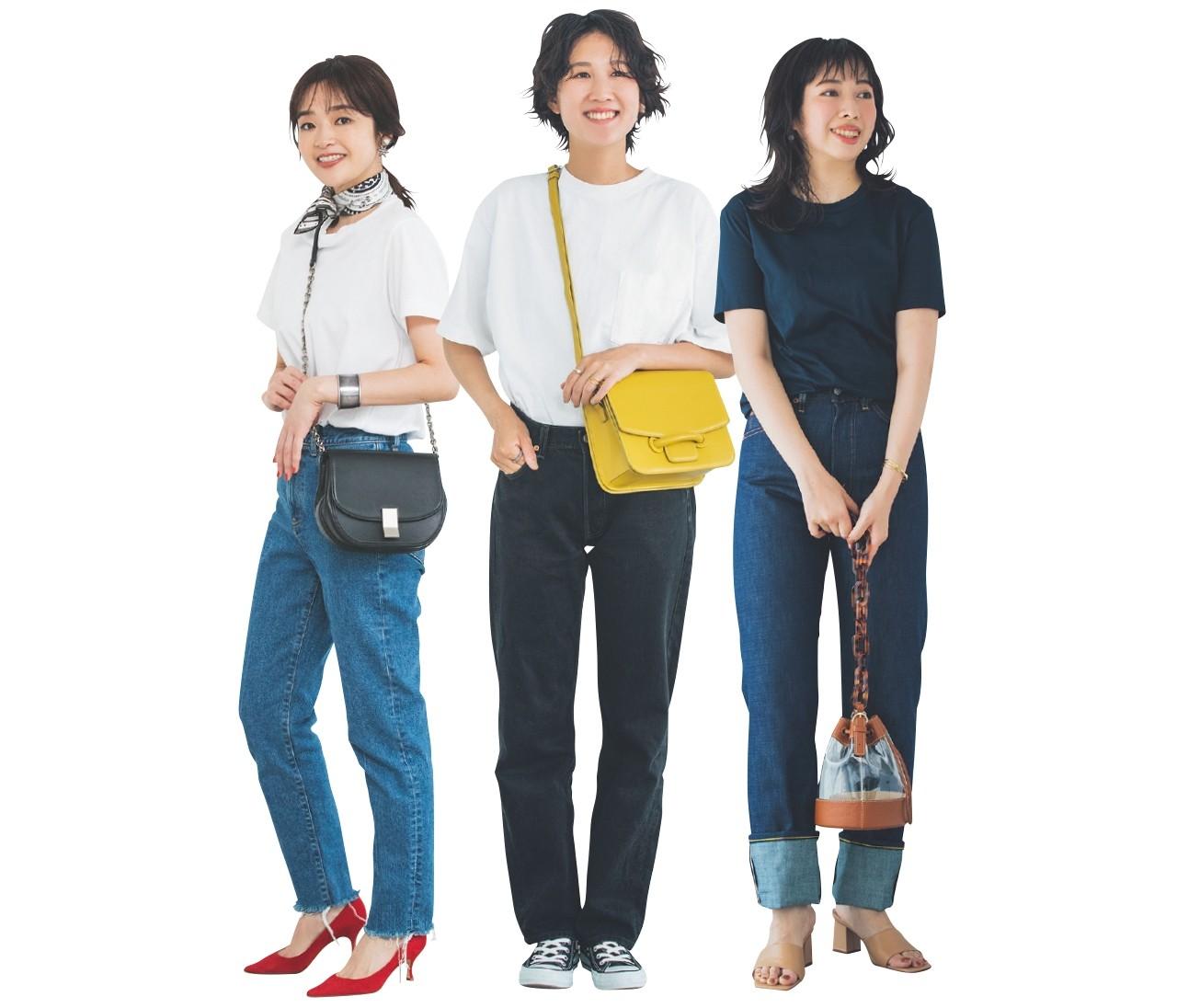 【30代女子の夏ファッションQ&A】おしゃれなTシャツ×デニムの着こなしは?