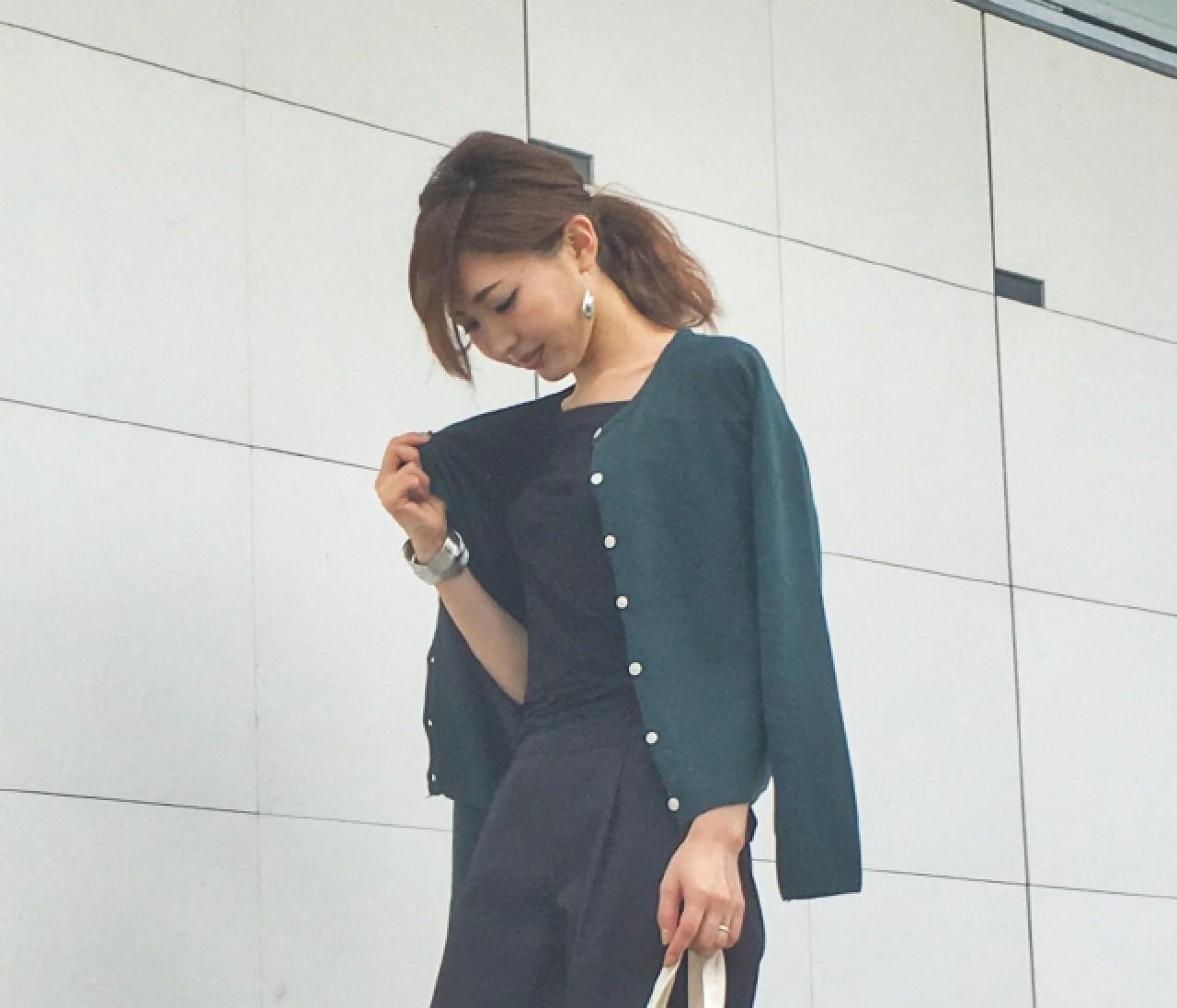 """【スナップ】カーディガン&靴で秋を""""プチ盛り"""""""