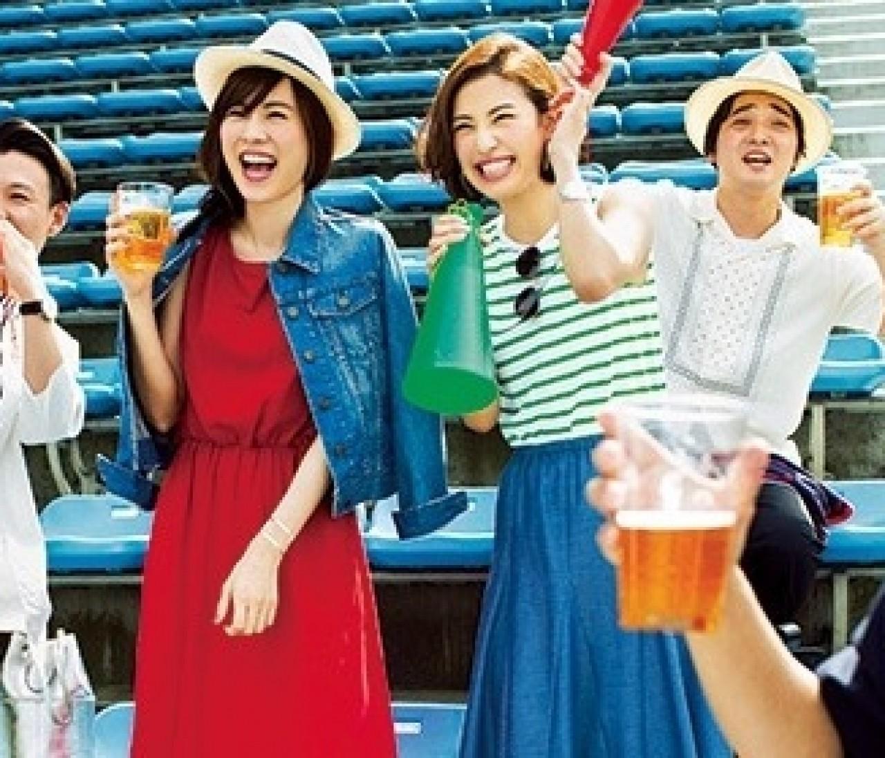 ジャングルポケットと応援!【楽ちんマキシスカート】でプロ野球を観よう★