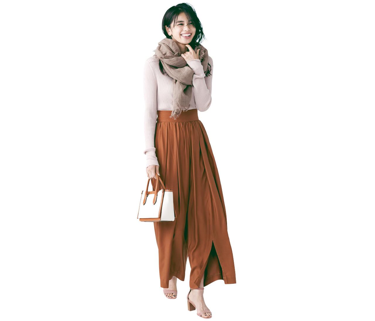 【2021春トレンド】「スカート見えパンツ」は春のスタメン確定!