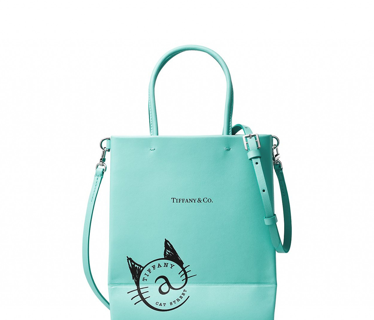 【「ティファニー@キャットストリート」限定のレザーバッグ登場】モチーフはショッピングバッグ