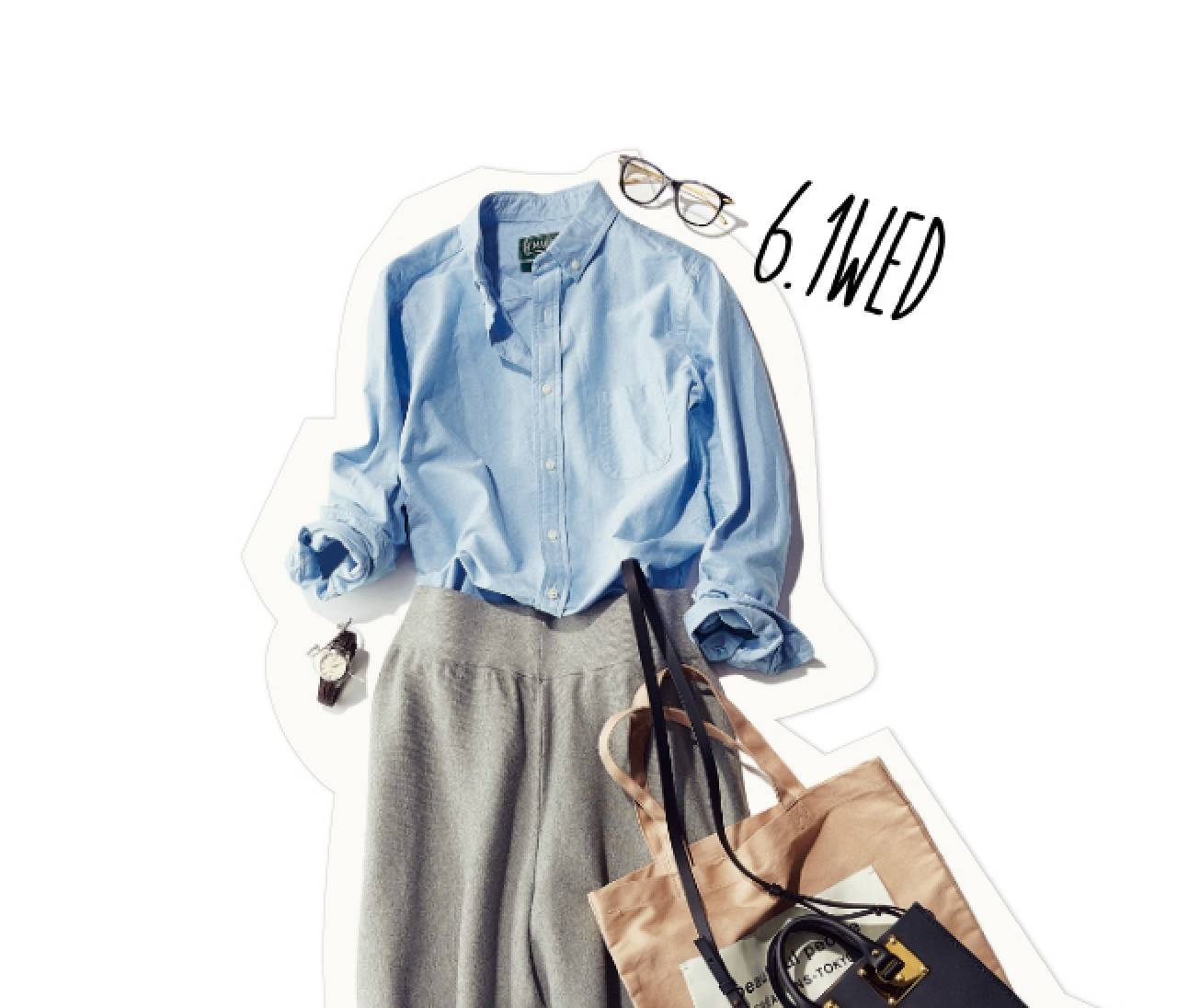 スクールガール風に♡ ベーシックシャツ×ガウチョの組み合わせがおしゃれすぎる!