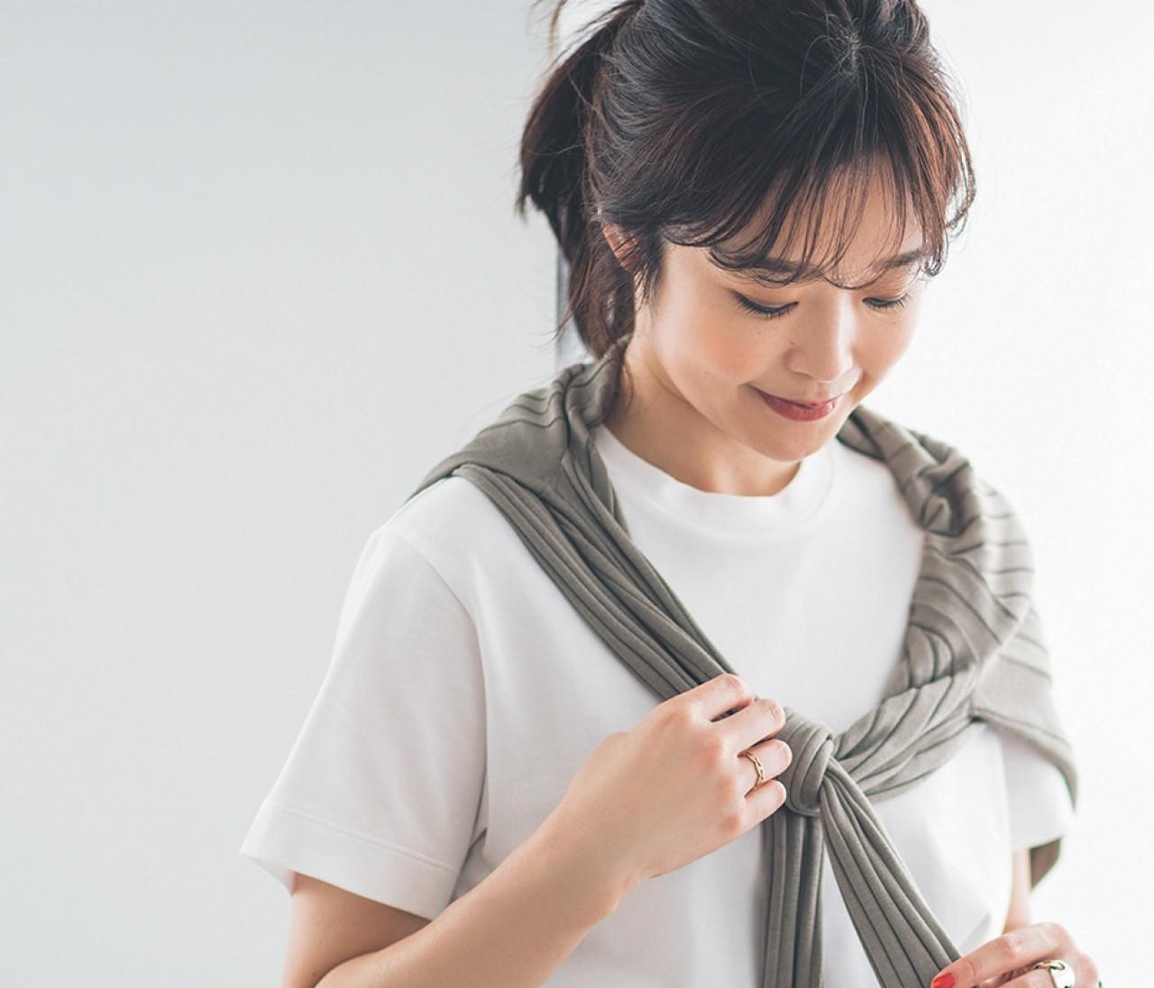 【30代女子の夏ファッションQ&A】いつものTシャツをギアチェンジする盛り方とは?