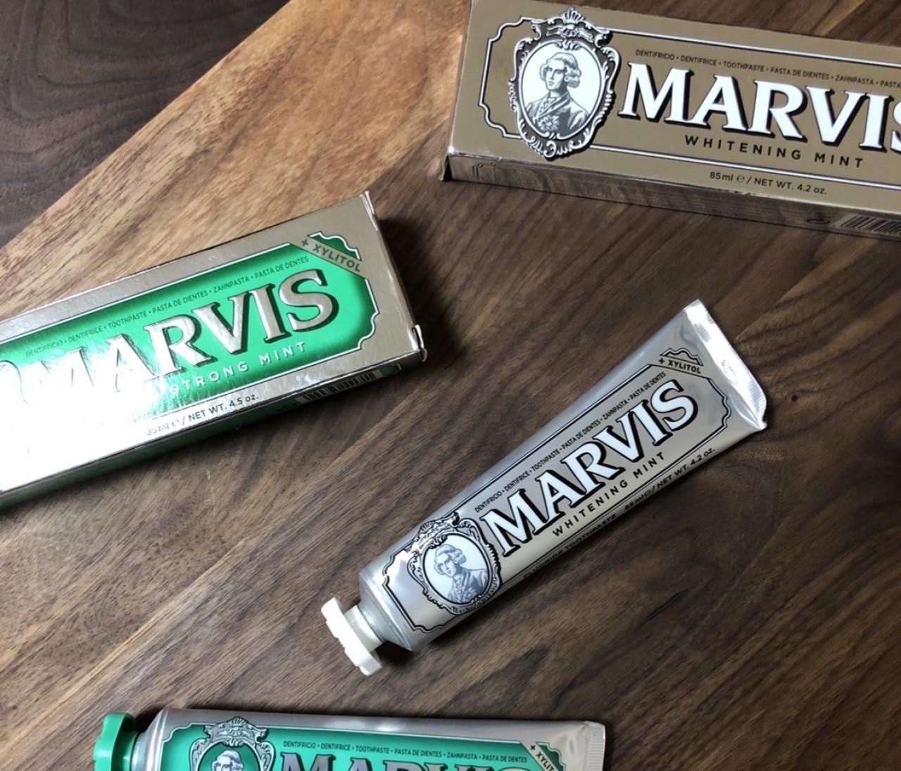 歯が白くなると噂のおしゃれ歯磨き粉!MARVIS