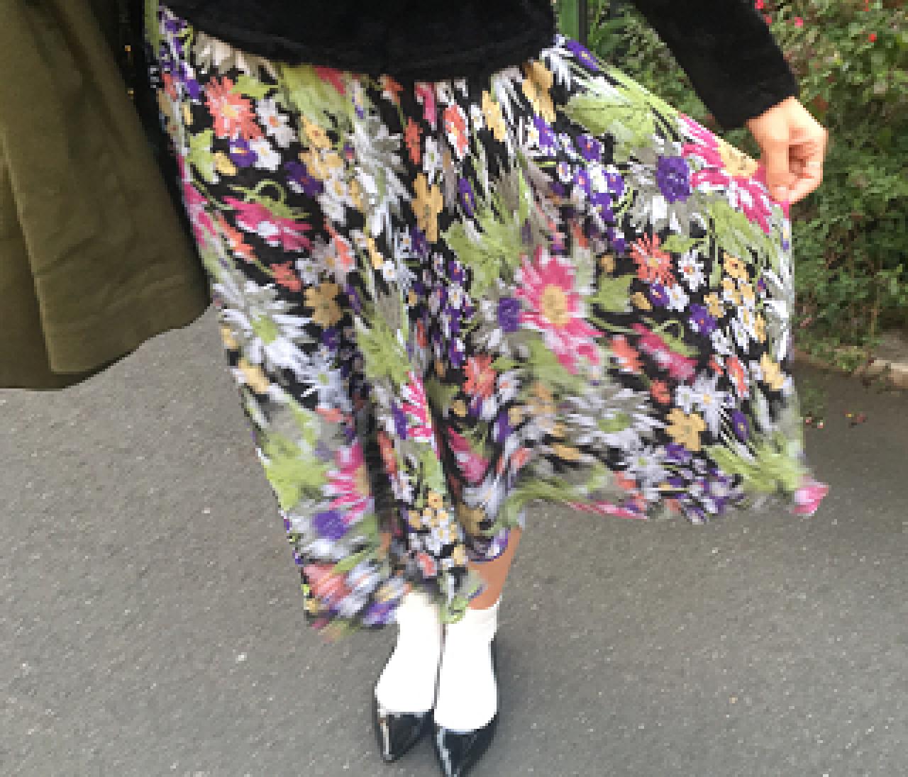 嬉しい秘密が。古着屋さんで見つけたスカート