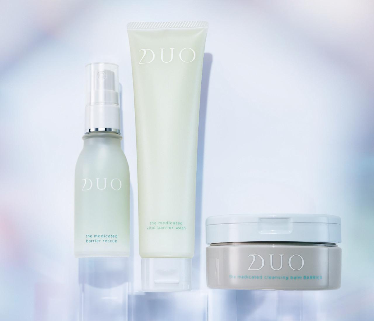 敏感肌ライン登場、DUO(デュオ)で肌バリア、パワーアップ!