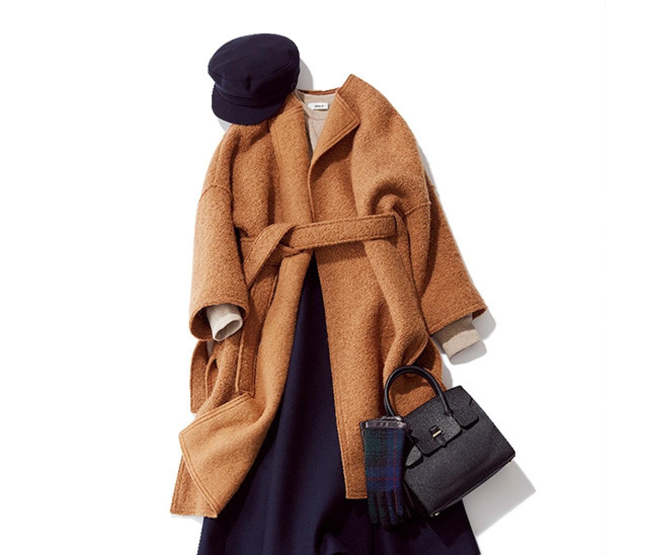 気持ちを引き締めたい新年は、シックで温かいスカートスタイルで♡