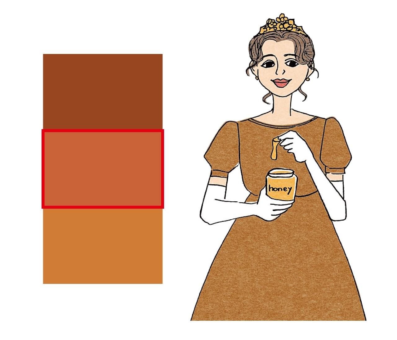 【イエベ×女顔】ハニーブラウン姫は黄みブラウンでふんわりソフト仕立てに