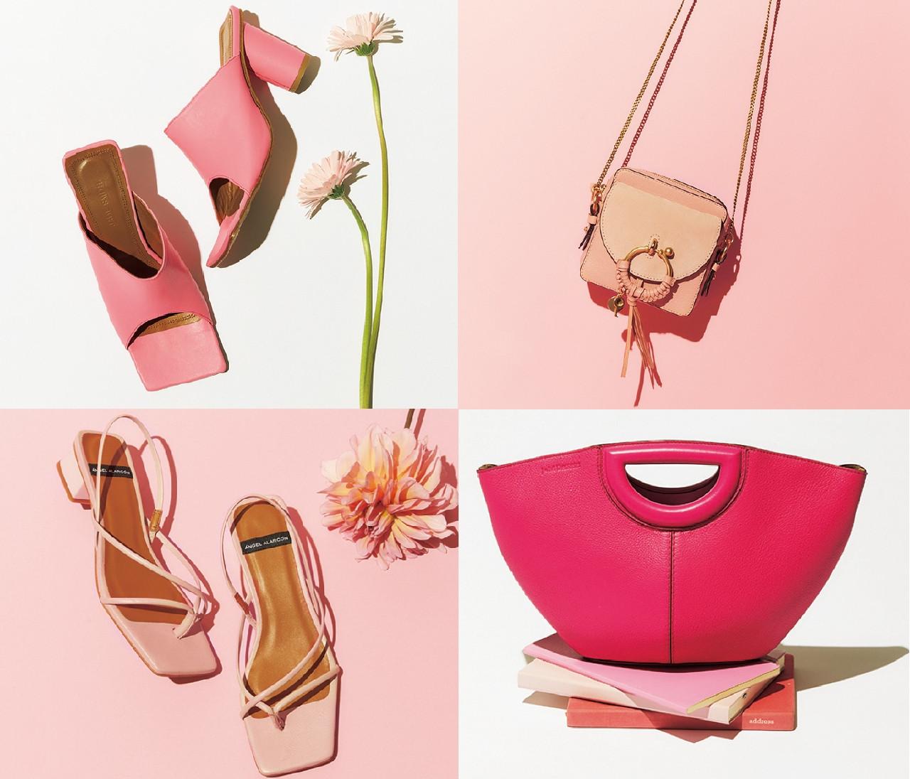 【春の靴&バッグ図鑑】大人に似合うピンクの靴&バッグ9選!