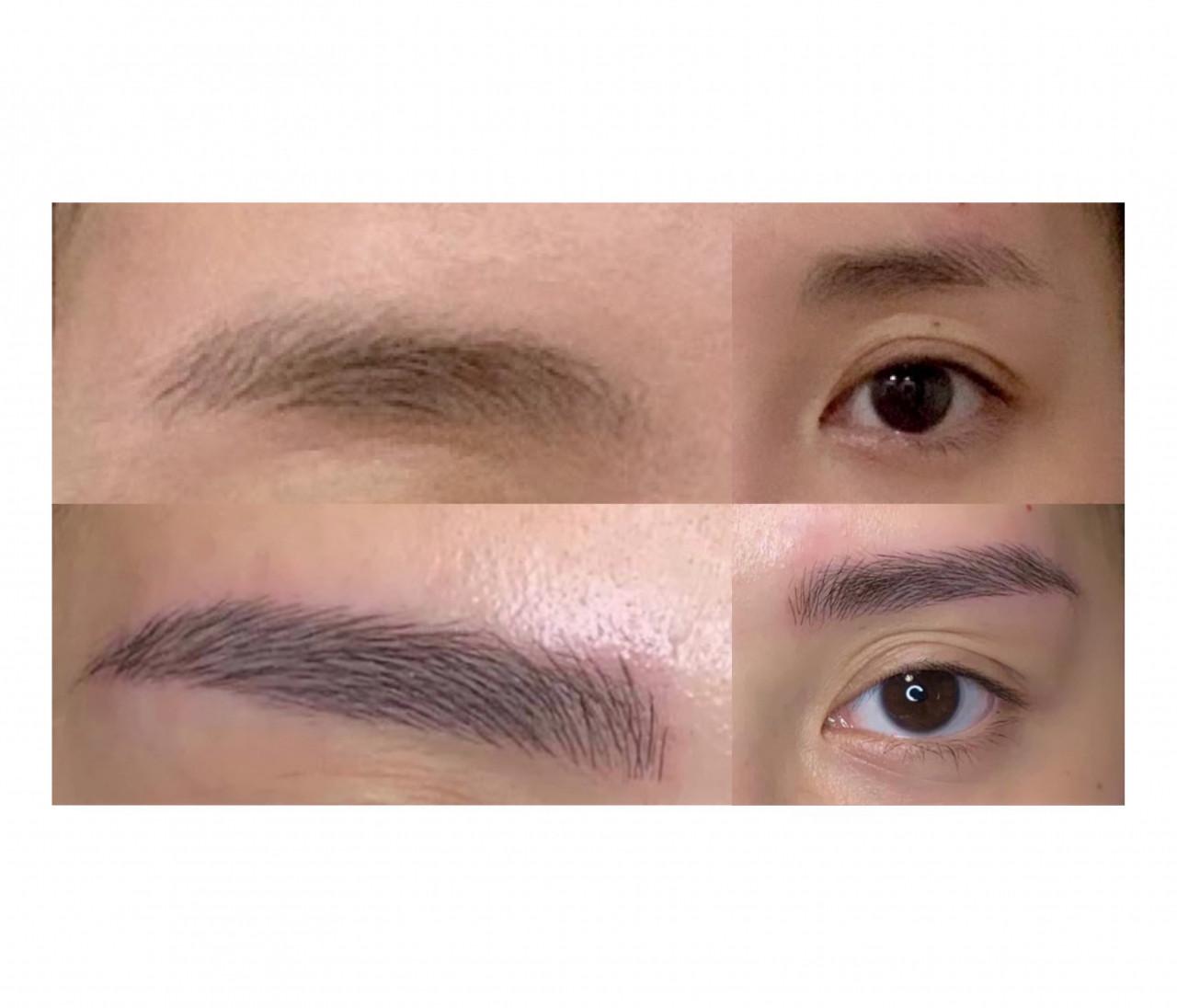 【眉毛アートメイク】を体験レポ②:Before & After/アフターケアーと痛み