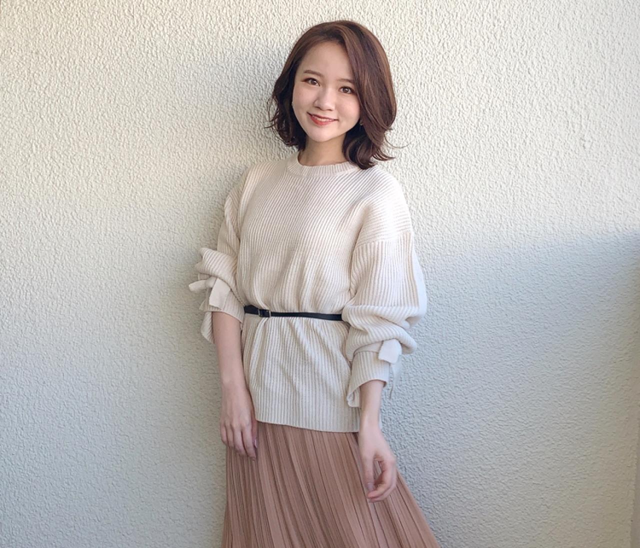 【150cmコーデ】ZARAのスカートを使った淡ブラウンコーデ