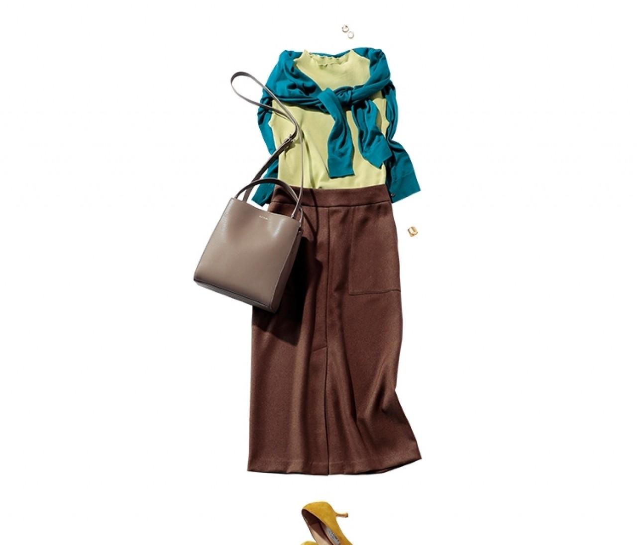 おしゃれを頑張りたい日は、夏色&秋色をMIXした洗練スカートスタイルを!【2019/9/5のコーデ】