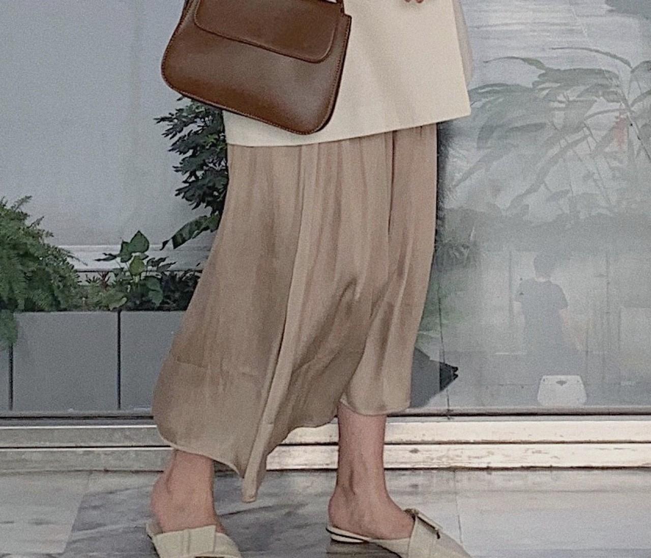 【ON&OFFコーデ】ベージュロングスカートの着回し