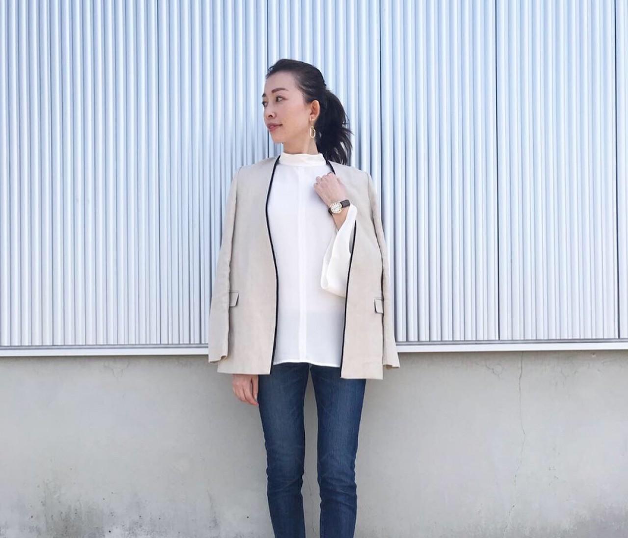 春のジャケット×デニムコーデ