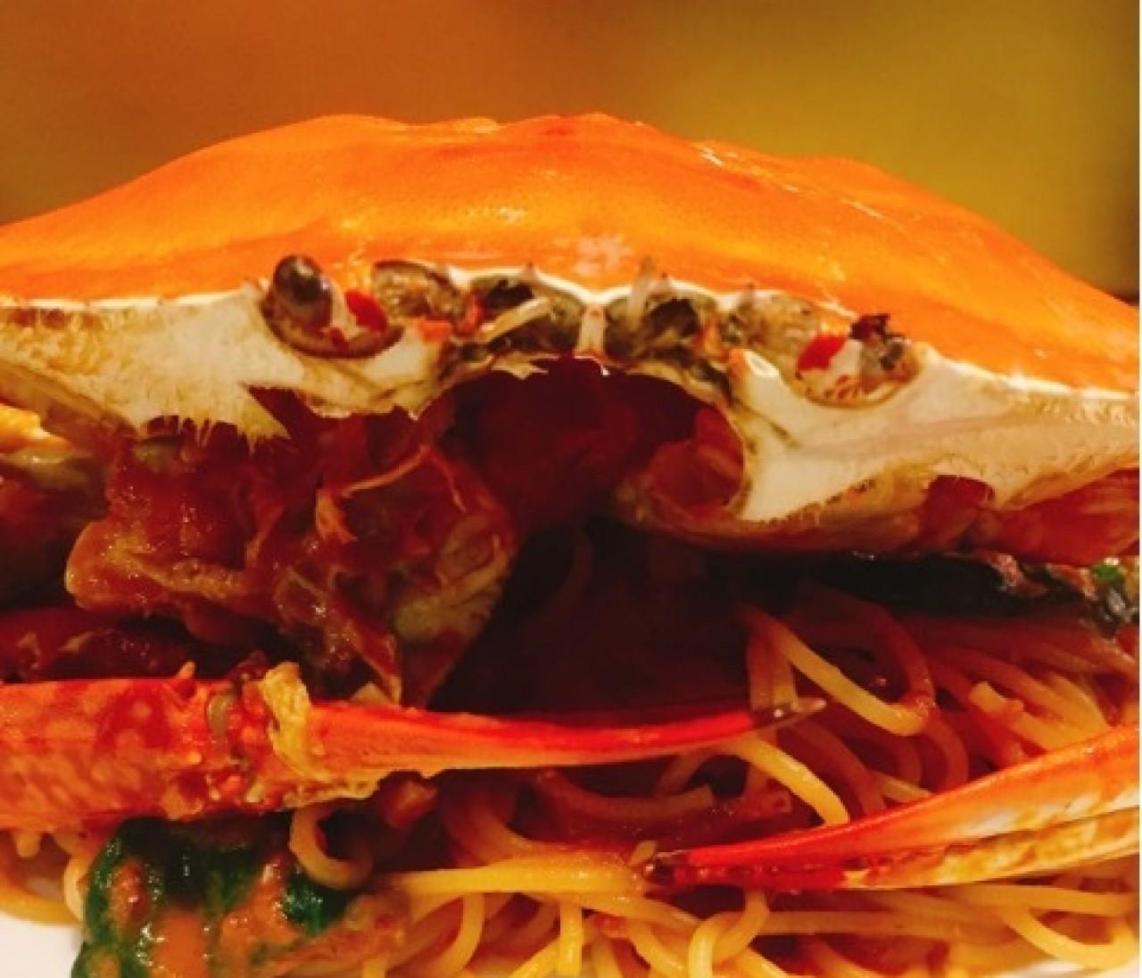 あれ…?パスタの具と目があった…? 築地の穴場イタリアンの、さすが!な海鮮パスタ